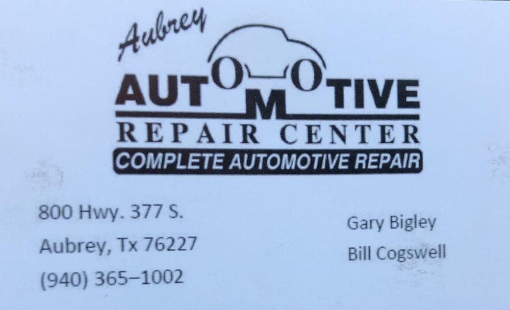 Aubrey Automotive Repair Center: 800 S Hwy 377, Aubrey, TX