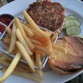 Photo Of Harborside Grill U0026 Patio   Boston, MA, United States. Salmon Burger