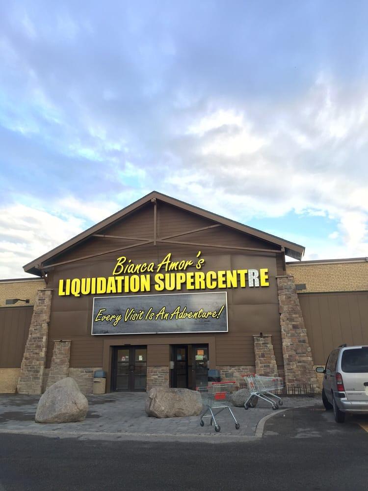Bianca amor s liquidation supercentre outlet stores for Super liquidation