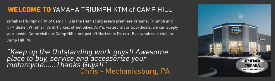 yamaha, triumph, ktm of camp hill - motorcycle dealers - 3809