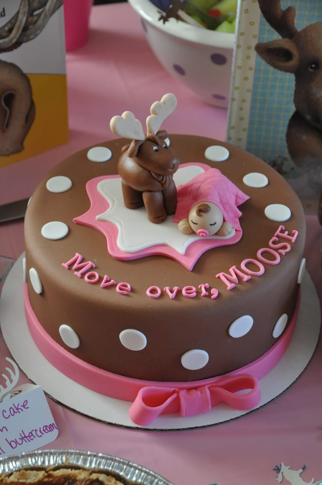 Cake For A Moose Themed Baby Shower I Sent Some Vague Ideas And