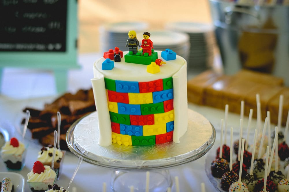 A Close Up Of Our Lego Themed Wedding Cake Yelp