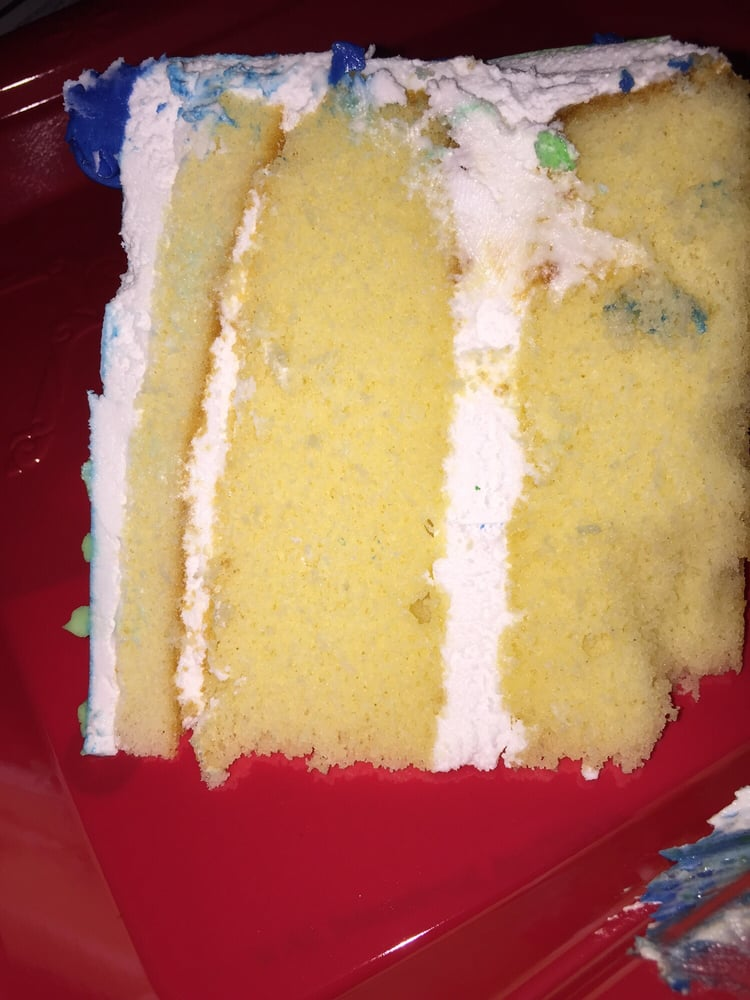 This is the cake with such uneven layers. It taste good, just looks ...