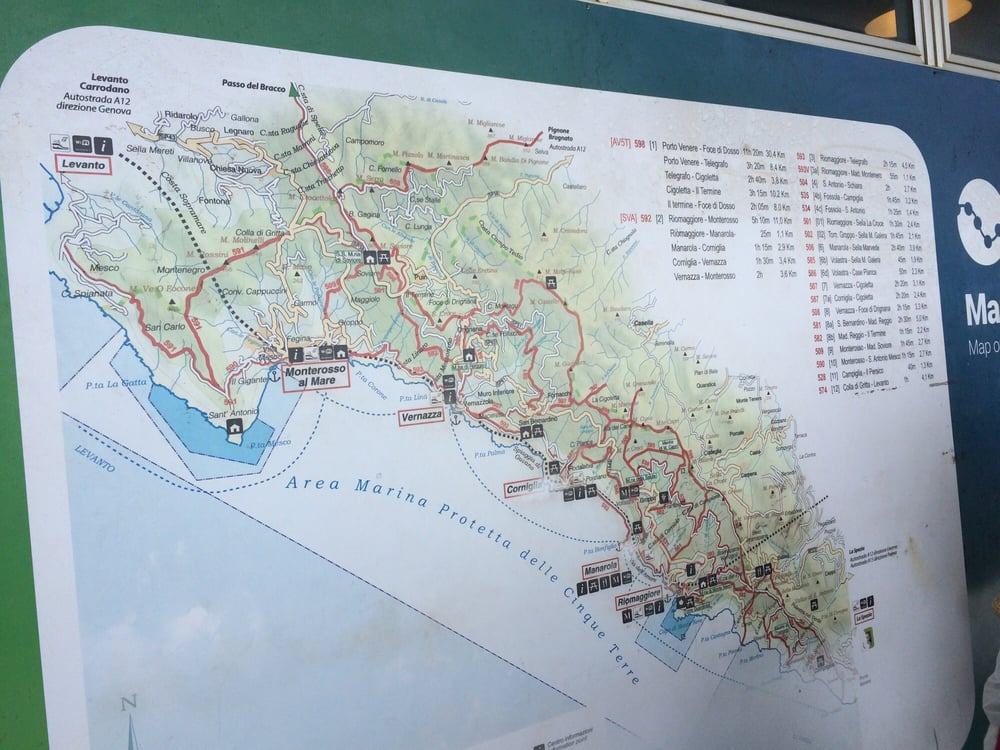 Corniglia Italy Map.Cinque Terre Map At The Station Yelp
