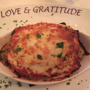 Lasagna layered with eggplant instead of noodles. Delicious! Flavorful ...