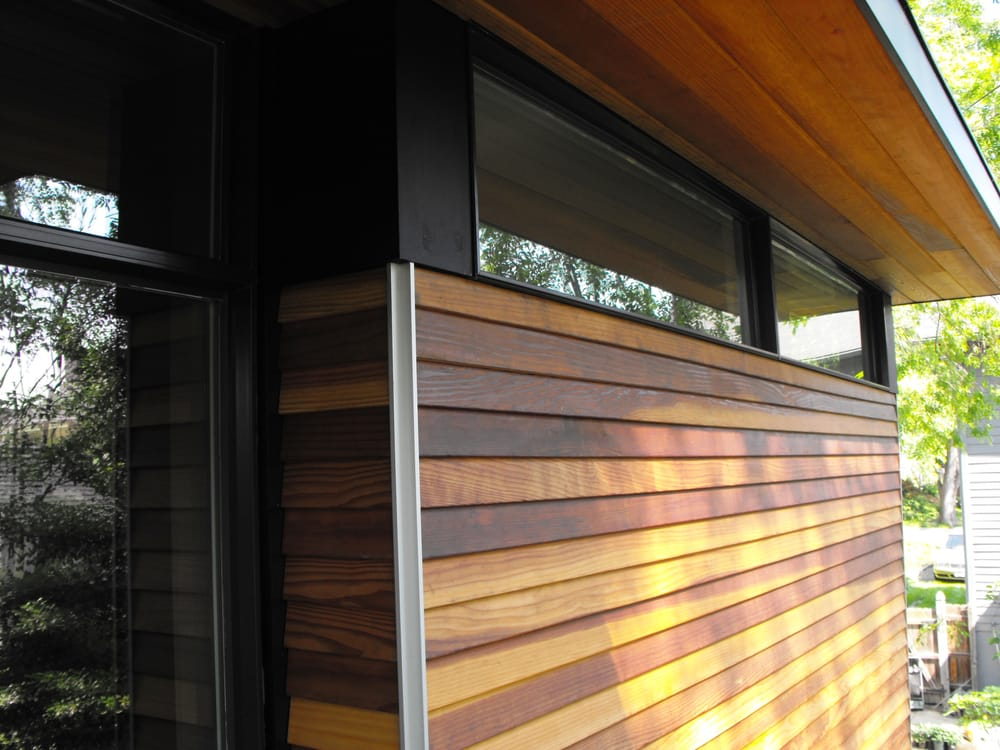 Redwood Siding With Open Corner Detail Yelp