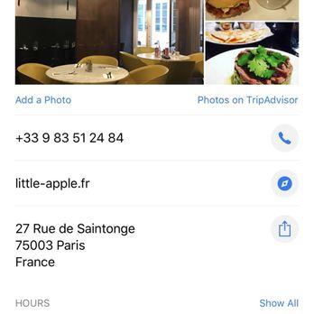 little apple 13 photos 13 reviews burgers 27 rue. Black Bedroom Furniture Sets. Home Design Ideas