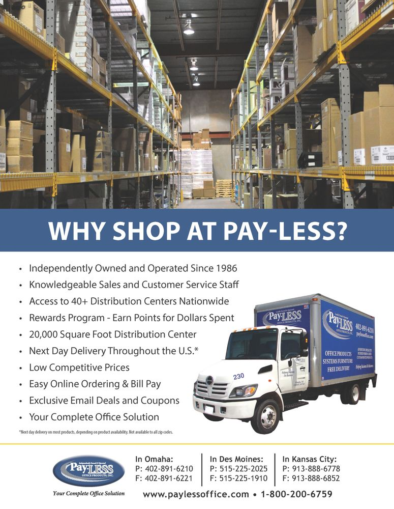 Pay-LESS Office Products: 13467 Chandler Rd, Omaha, NE