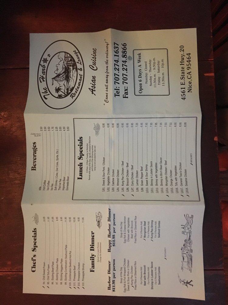 Harbor Restaurant & Lounge: 4561 E Hwy 20, Nice, CA