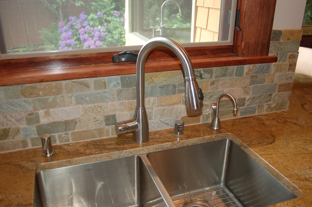 Stainless steel undermount sink with granite countertop yelp for Granite countertop support requirements
