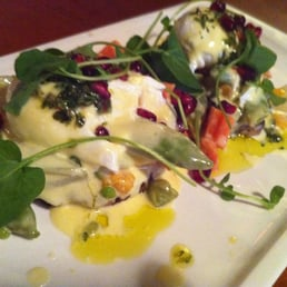 ... , horseradish salsa verde, pomegranate arils (4/5) [Brunch, 1/21/12