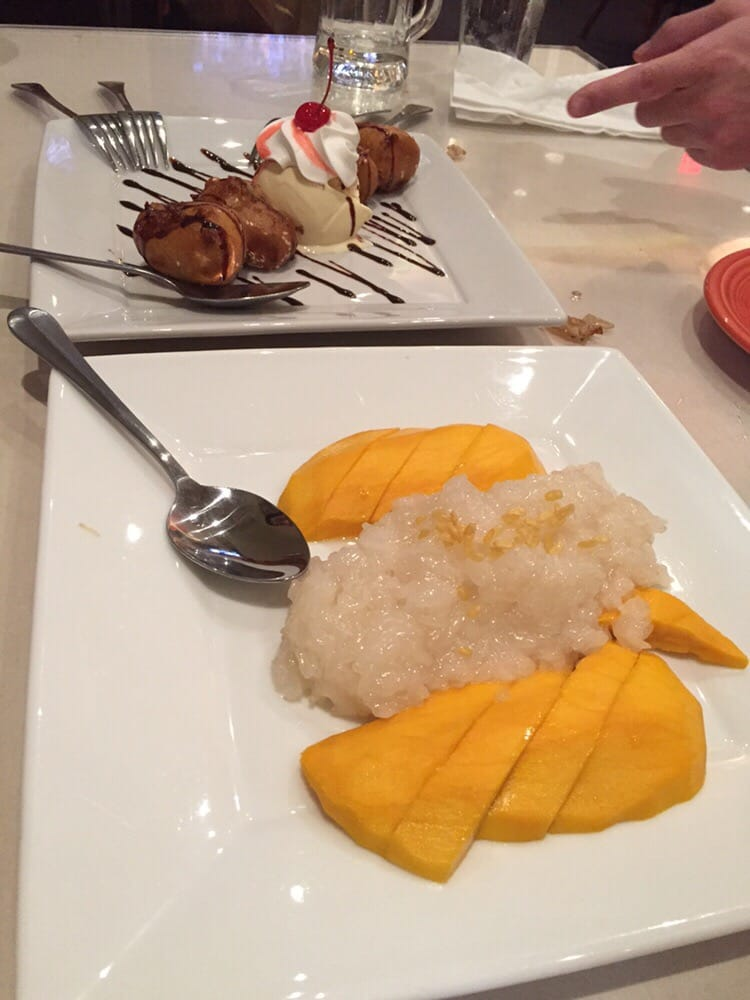 Fried bananas with ice cream and sticky rice with mango yelp for Amarin thai cuisine