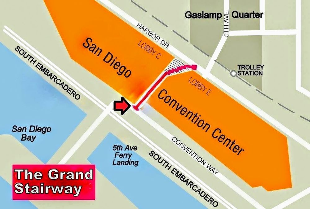 The Grand Stairway: 111 W Harbor Dr, San Diego, CA