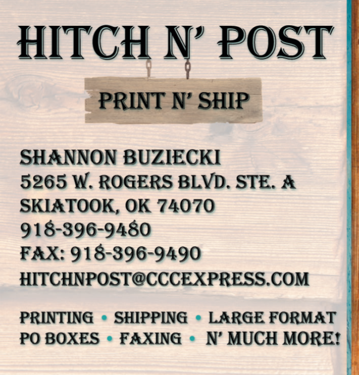 Hitch N Post: 5265 W Rogers Blvd, Skiatook, OK