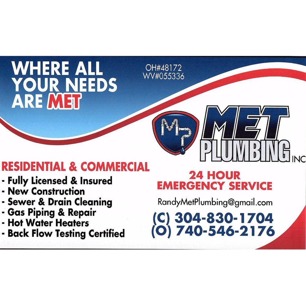 MET Plumbing Services: 55115 National Rd, Bridgeport, OH
