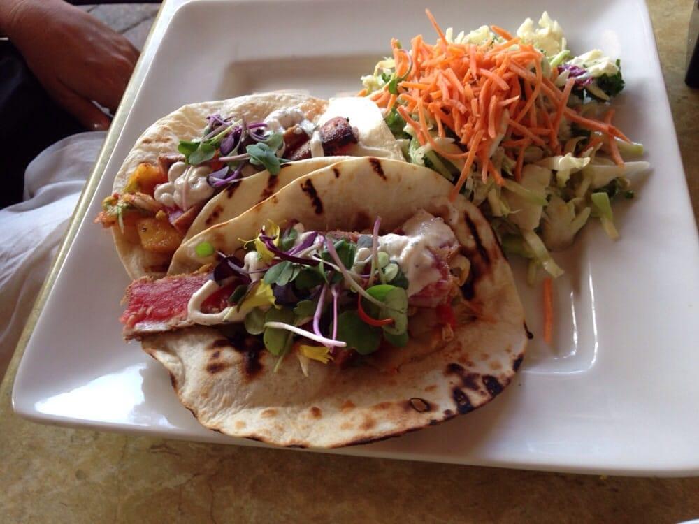 Seared ahi tuna fish tacos yelp for Tuna fish tacos