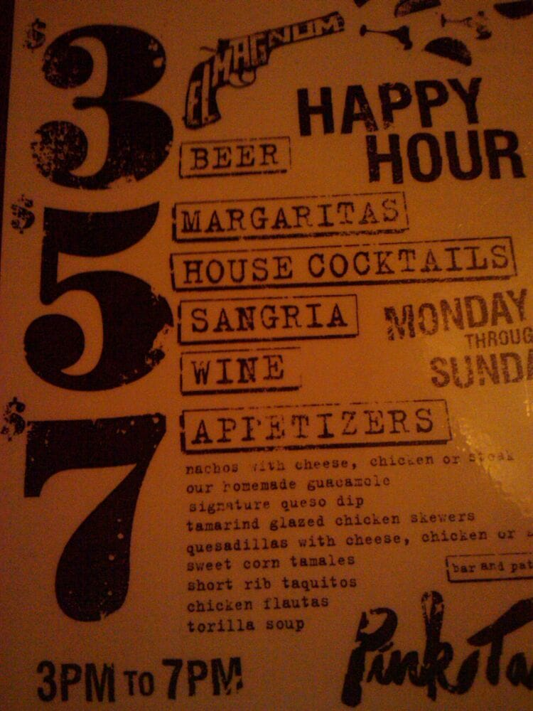 Photo Of Pink Taco   Los Angeles, CA, United States. Happy Hour Menu