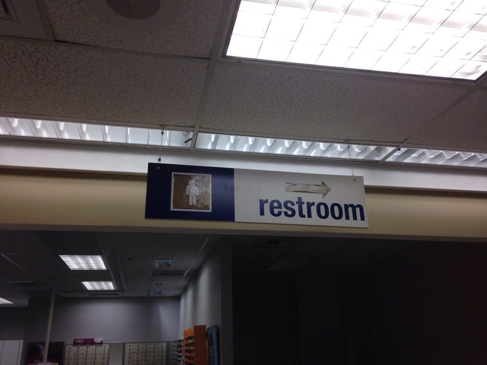 Look At This Ghetto Restroom Sign Someone Made Out Of