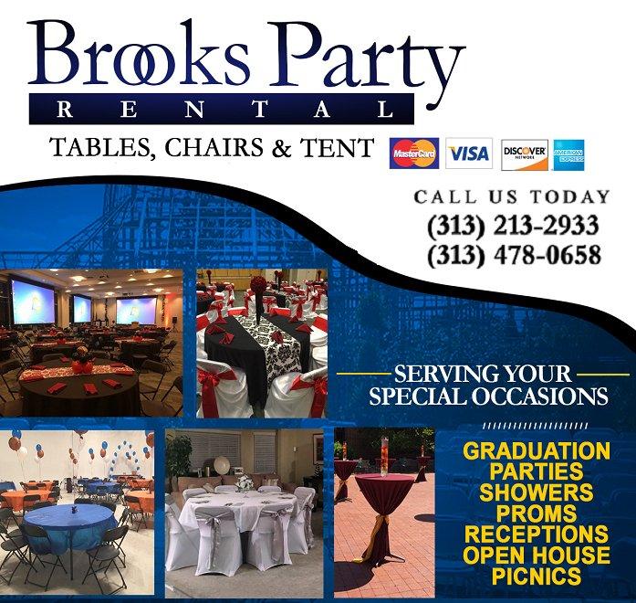 Brooks Table Chair & Tent Rental: Detroit, MI