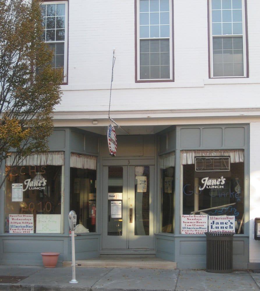 Jane's Lunch: 3 E Main St, Berryville, VA