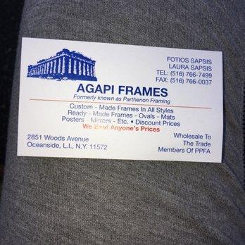 Agapi Frames - Framing - 2851 Woods Ave, Oceanside, NY - Phone ...
