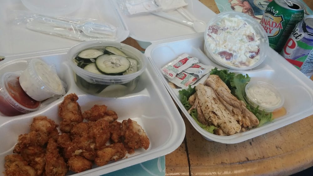 Delicious fried oysters and sauteed fish yelp for Pops fish market