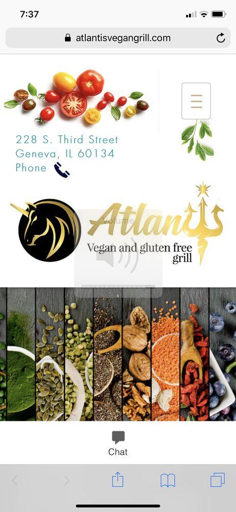 Atlantis Vegan Grill: 104 E Main St, St. Charles, IL