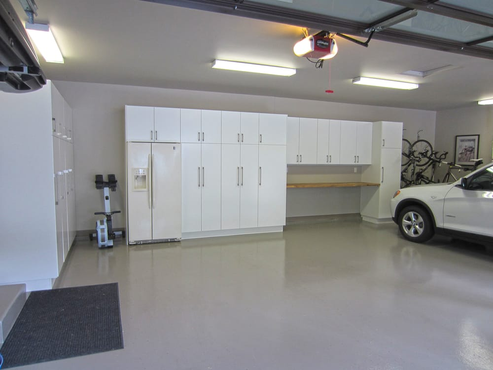 A garage renovation in mercer island wa using ikea for Small kitchen in garage