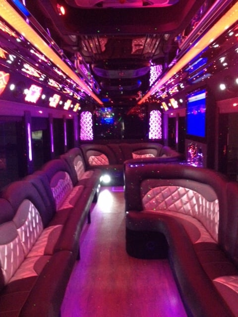 2016 40 passenger corporate limo bus fully equipped with for Party bus with bathroom