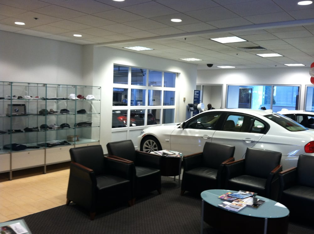 customer waiting area at bmw of boston - yelp