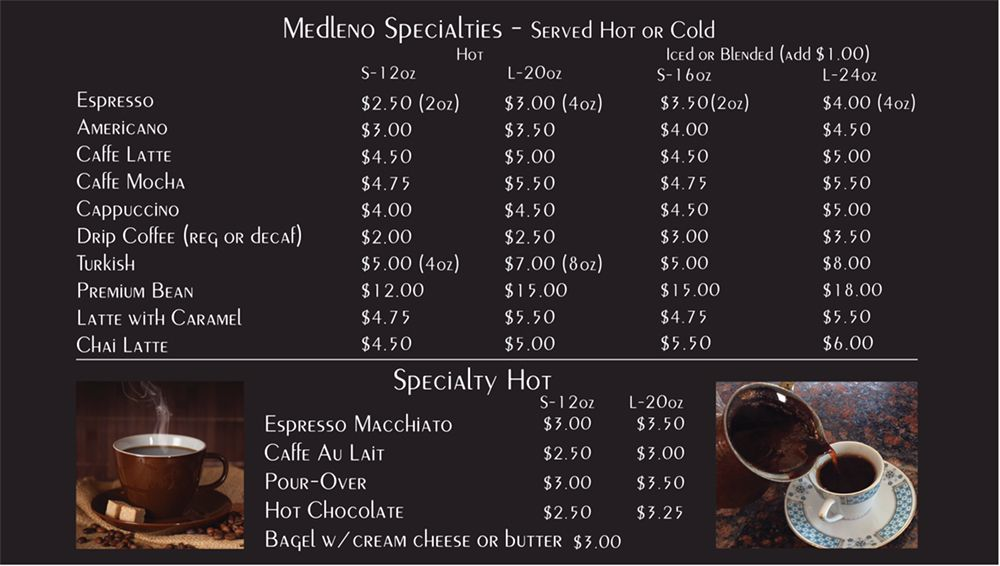 Medleno Coffee Shop & Roastery: 480 San Ramon Valley Blvd, Danville, CA