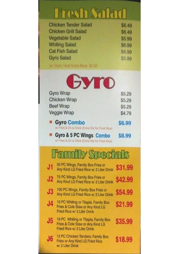 J Buffalo Menu J. buffalo wings menu ...