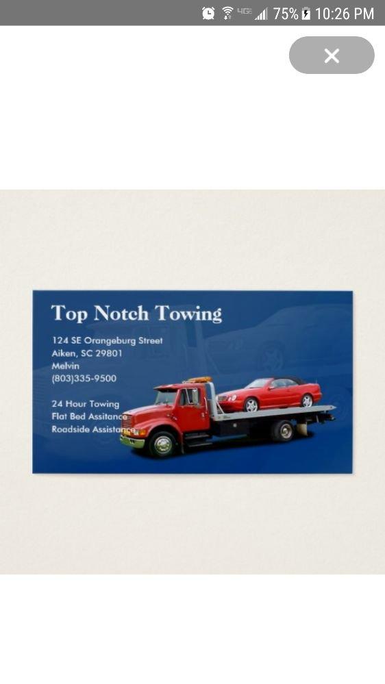Top Notch Towing: 124 SE Orangeburg St, Aiken, SC
