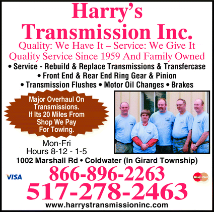 Harry's Transmission: 1002 Marshall Rd, Coldwater, MI