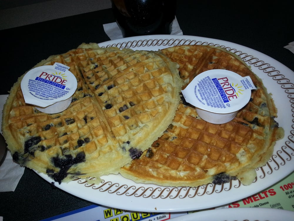 Blueberry Waffles. I Had No Idea These Were So Huge!