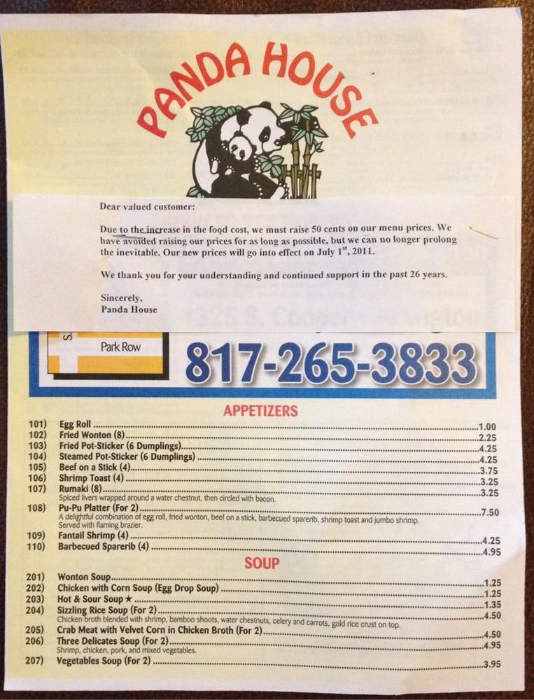 Panda House Chinese Restaurant Arlington Tx