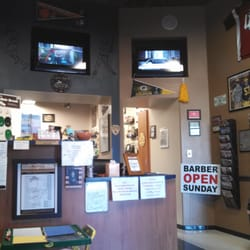Sports Barber Shop - Glendale, AZ, United States. Lobby with three TVs