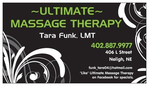 Ultimate Massage Therapy: 406 L St, Neligh, NE