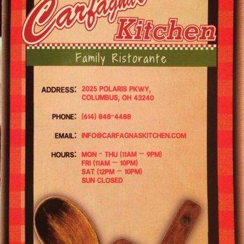 Carfagnas Italian Kitchen Menu