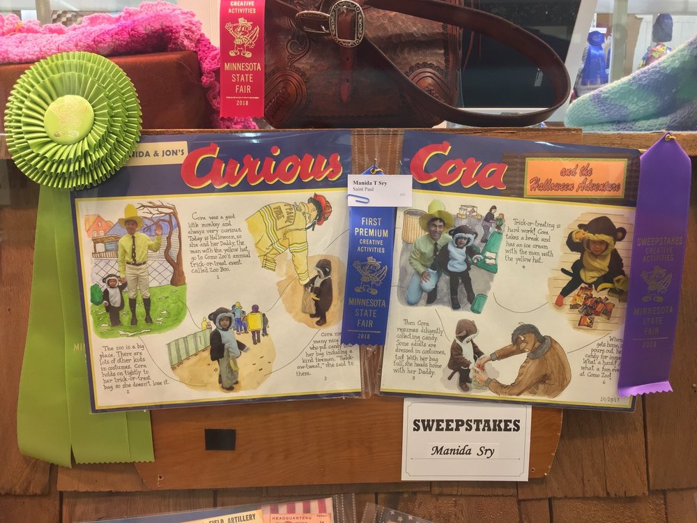 Sweepstakes-winning scrapbook entry: the adventures of