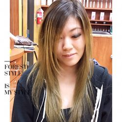 Photo Of For Hair Studio San Gabriel Ca United States Ombre Color