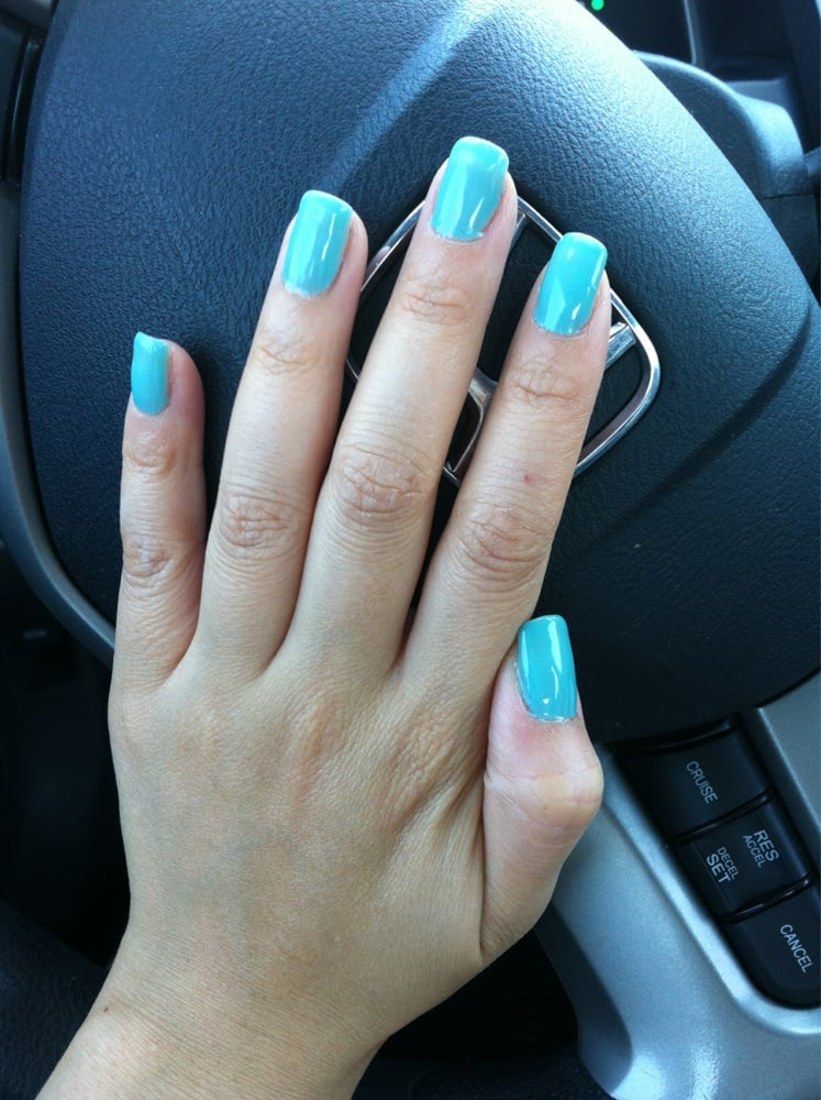 Light blue gel nails by Susan! - Yelp