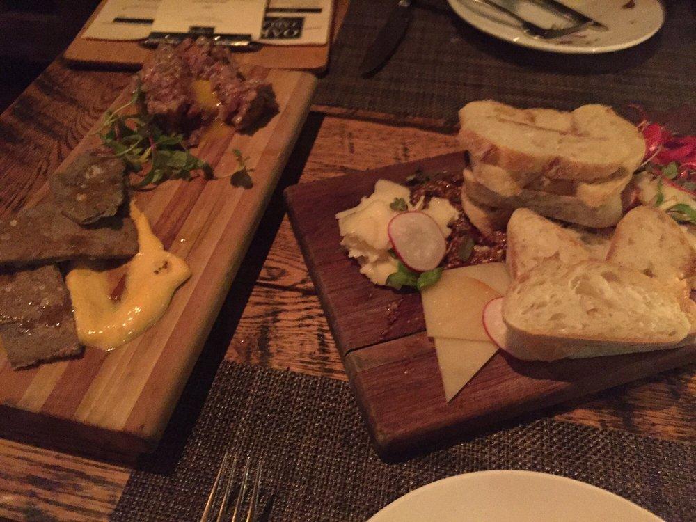 Oak Table Columbia Sc ~ Tenderloin tartar and cheese plate desserts yum yelp