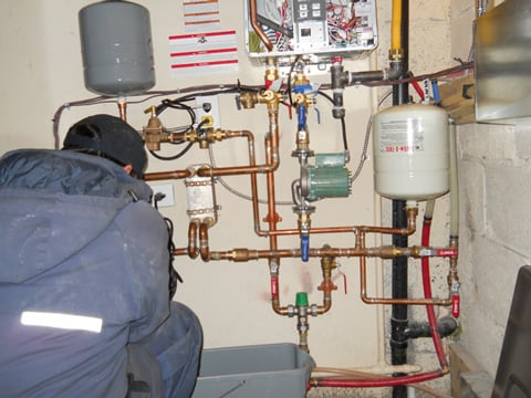 Installing combo in floor radiant heating and domestic hot for Garage floor heating systems