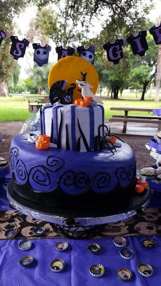 Amazing Nightmare Before Christmas Baby Shower Cake By The Cake Man