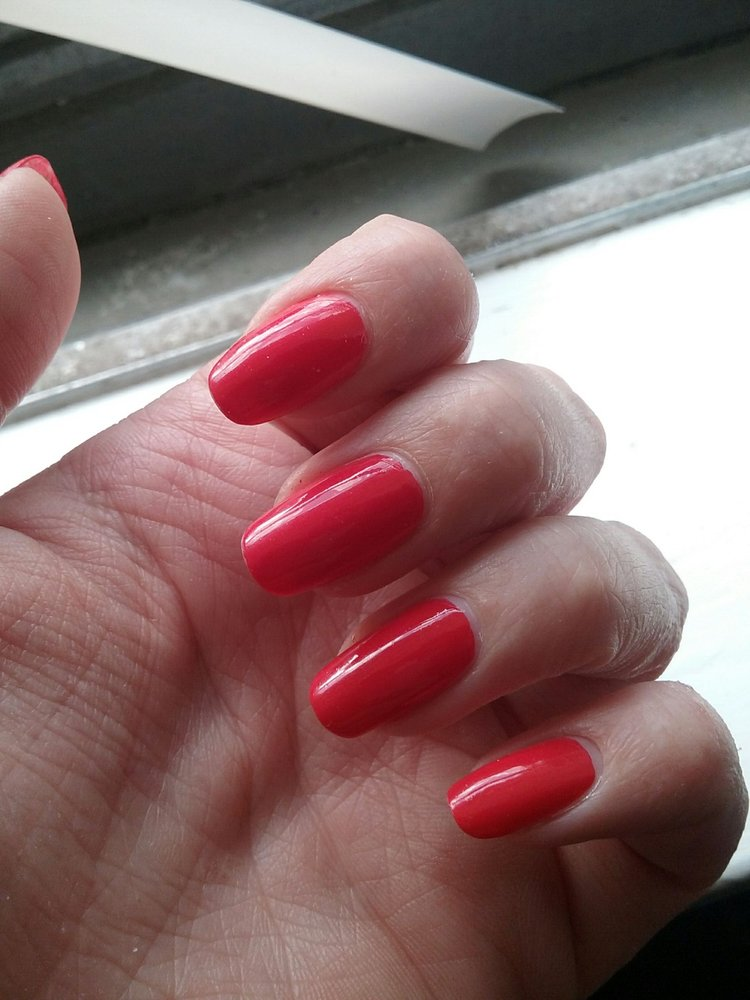 Pretty color for the manicure I got at Newtown Nail Spa - Yelp