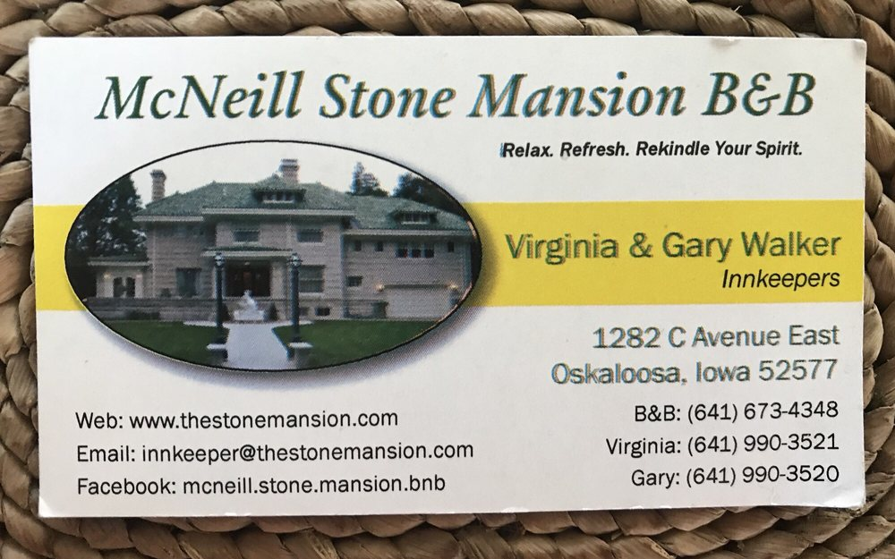 McNeill Stone Mansion B & B: 1282 C Ave E, Oskaloosa, IA