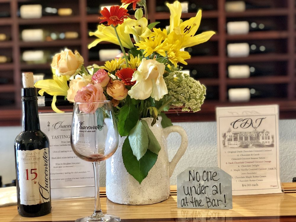 Chacewater Winery & Olive Mill: 5625 Gaddy Ln, Kelseyville, CA