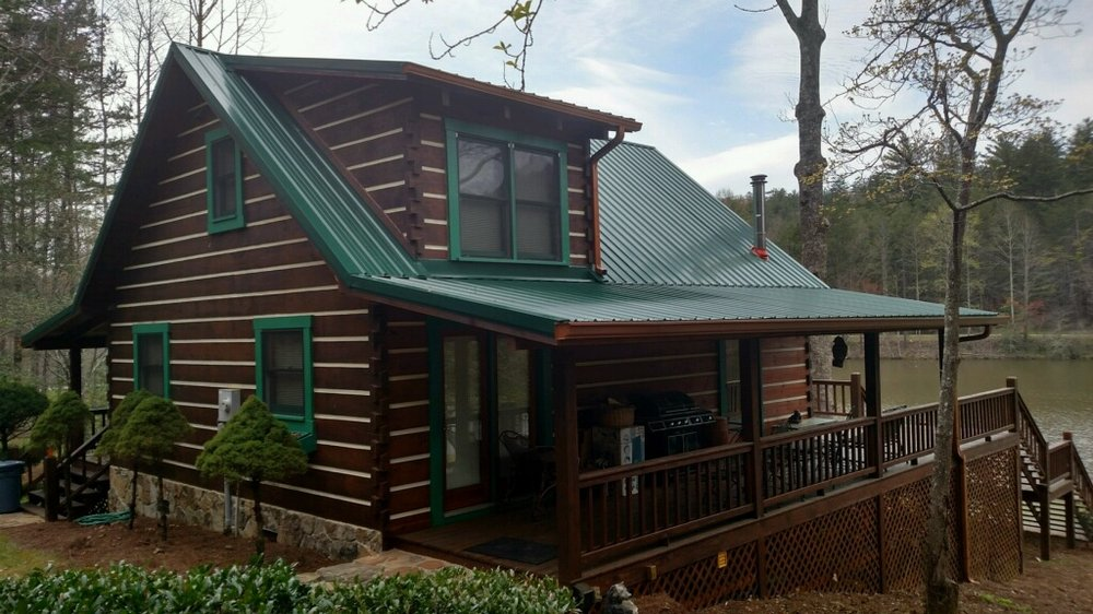 Hunter Green Metal Roofing On A Cabin In North Ga Yelp