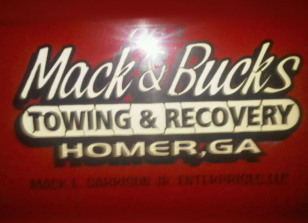Mack & Bucks Towing & Recovery: 1016 Historic Homer Hwy, Homer, GA